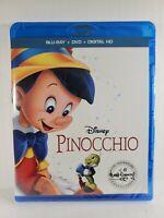 Pinocchio (Blu-ray/DVD, 2017, 2-Disc Set, Includes Digital Copy)