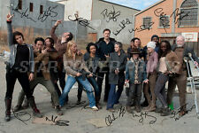 THE WALKING DEAD CAST PHOTO PRINT POSTER PRE SIGNED - 12 X 8 INCH (A4) - N.O 2