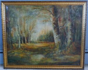 Antique Impressionist / Post-Impressionist Oil on Canvas, 32 x 40, Unsigned