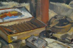 Anton Woelki (1908 - 1987) Raucherszene Febr.46 Düsseldorfer Schule