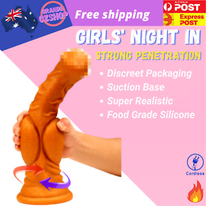 Realistic Dildo Liquid silicone Huge Big Penis Female Masturbation Sex Toys NEW