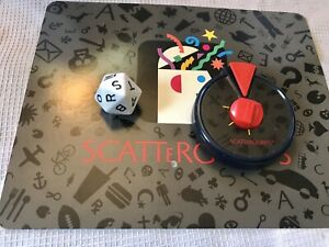 Scattergories Timer and 20 sided Dice Die Milton Bradley 1988 Game no 4917