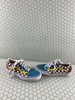 VANS Old Skool Multicolor Canvas/Suede Lace Up Low Top Shoes Mens 5.5  Women's 7