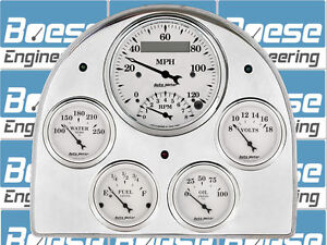 52-53 Ford Car Billet Aluminum Gauge Panel Dash Insert Instrument Cluster
