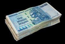 50 x Zimbabwe 1 Million Dollar banknotes-1/2 currency money bundle