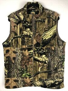 Cabela's Legacy Fleece Full Zip Vest WindShear Camouflage Men's Medium Hunting
