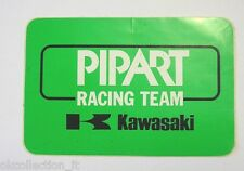 VECCHIO ADESIVO MOTO / Old Sticker PIPART RACING TEAM KAWASAKI (cm 14 x 9)