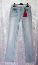 Damen-Jeans mit geradem Bein mit Stickerei