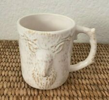 NWT Anthropologie Kylo Ivory Large Animal Mug- Stag Deer