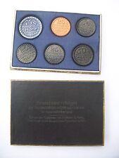 6 x Kannenbäcker Notgeld + Schachtel Höhr bei Coblenz 1921 Bildhauer A. Kamp