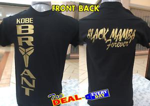 Kobe Bryant T-shirt Basketball Legend black Mamba Front and Back
