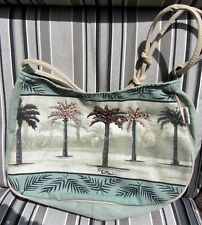 Paul Brent Portofino Adjustable Shoulder Bag, Beaded Palm Trees, Removable Base