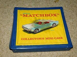 VINTAGE 1960S LESNEY MATCHBOX 18 CAR CASE MUSTANG FASTBACK