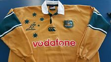 Wallabies Australian Canterbury Rugby Union Polo Shirt Jersey Men's XL VODAFONE