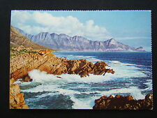 CAPE BREAKING SURF INVADES OUTLET OF STEENBRAS RIVER MOUTH IN FALSE BAY POSTCARD