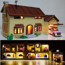 USB LED Light Kit Fit To LEGO Simpsons House set 71006 Building Block Gift New