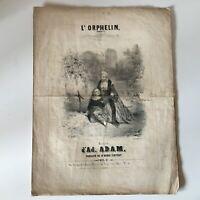 Spartito L'Orphan Romance Henri Cintrat Musica 'Ad Adam Francia Musicale XIX