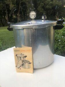 Presto Deluxe 22 Quart Pressure Cooker Canner Vintage 0178001 Cast Aluminum USA