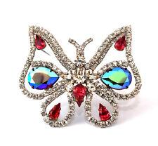 Schmetterling Strassbrosche - Multicolor - Unikat aus Gablonz/Böhmen - swa546