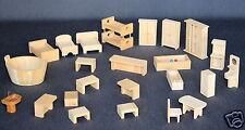 Puppenhaus Puppenstube Zubehör Einrichtung Möbel Bett Schrank Tisch