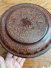 Antique Vintage Burmese Red Lacquer Box Container Burma SE Asian Old