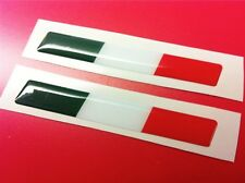2 Adesivi Resinati Stickers 3D Flag Bandiera ITALIA 100 x 20 mm