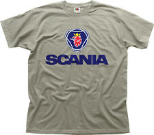 SCANIA badge car truck zinc white cotton t-shirt 0391