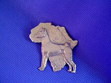 Basenji Pin African Design Pewter Sighthound Dog Jewelry by Cindy A. Conter 40G