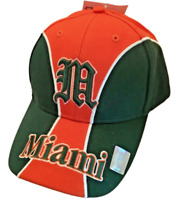Miami Hurricanes Hat Green & Orange Team cap New!  NCAA