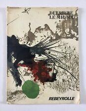 Paul Rebeyrolle, Derriere Le Miroir Lithograph Maeght Portfolio 1969, French Art