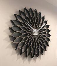 Reloj De Pared Negro, 89 CM, grandes, moderna, hecho a mano madera natural,