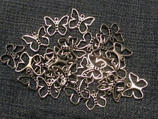 Lot of 25 metal Butterfly charms. Open design 3/4 x 1/2. Craft supply