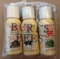 Burt's Bees 3x 1oz (Therapeutic Nourishing & Soothing) Body Lotion Pack SEALED