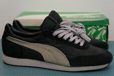 Vintage 1980s Puma Pacific II sz 9 US Running Shoes Blk/Grey Clyde Suede