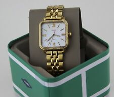 NEW AUTHENTIC FOSSIL MICAH GOLD CRYSTALS SQUARE MOP WOMEN'S ES4270 WATCH