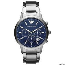 Emporio Armani AR2448 Mens Stylish Stainless Steel Blue Chronograph Watch