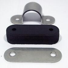 BSA A7 A10 B31 B33 Goldstar Rear mudguard clip Pad & plate 42-6759 stainless UK