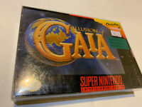 ILLUSION OF GAIA SNES SUPER NINTENDO CART IN BOX WITH MANUAL LEGEND MANA AUTHENT