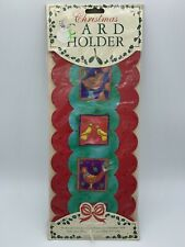 Vintage Christmas Card Holder Birds Holds 30 Cards - 1983 - From England