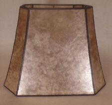 Parchment Color Cut Corner Copper Foil Frame Rectangle Mica Lamp Shade