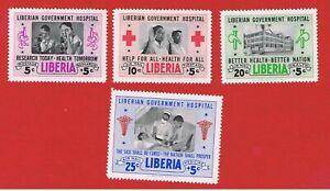 Liberia #B19 #CB4-CB6 MVFLH OG  Semi-Postal  Free S/H