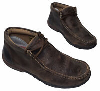 Twisted X Men's Brown Bomber Leather Chukka Driving Moc Size 8 M
