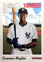 2019 TOPPS HERITAGE HIGH NUMBER - CAMERON MAYBIN (#710-SP)