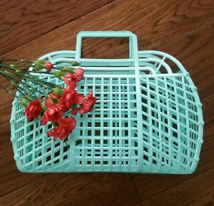"""NEW Vintage Retro MINT 13"""" (1980's) JELLY Plastic Purse as GIFT BASKET US Made"""