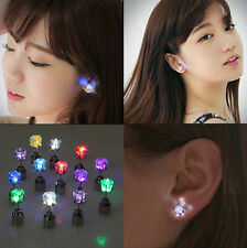 Party Decorations Lot: 9 Pairs Masquerade Glowing Studs LED Lighting Up Earring