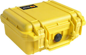 Yellow Pelican 1200 Case with foam includes Your FREE Custom Engraved Nameplate