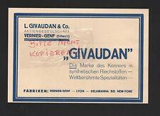 VERNIER-GENF Werbung 1930, L. Givaudan & Co AG synthetische Riechstoffe
