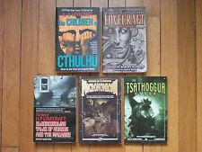 Cthulhu, Necromicon, Tsathoggua Lot 5 Horror Books H. P. Lovecraft +