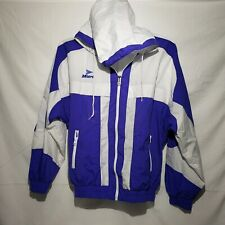 Vintage Mitre Windbreaker Hooded Full Zip Soccer Jacket Size Large