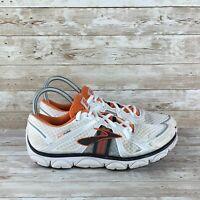 Brooks Pureflow Mens Size 10 White Orange Athletic Training Running Shoes